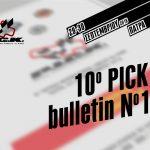 PICK 2018 – BULLETIN No1